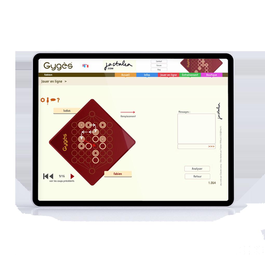 le jeu Gyges sur tablette