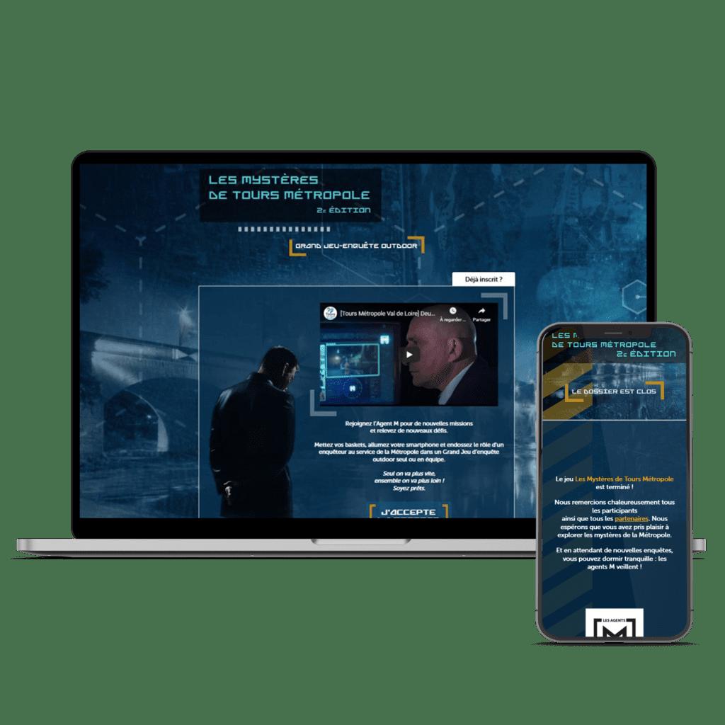 Le site des Mystères de Tours Métropole sur ordinateur et mobile